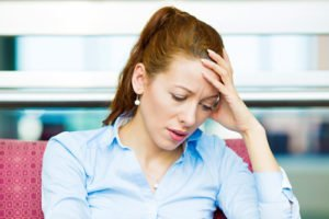 woman receiving anxiety treatment